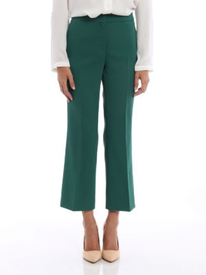 N°21: casual trousers online - Crepe cady flared crop trousers