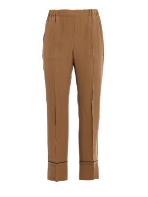 N°21: casual trousers - Silk blend cropped pyjama trousers