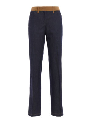 N°21: casual trousers - Wide leg chambray trousers