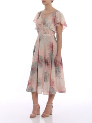 N°21: cocktail dresses online - Printed silk flared dress