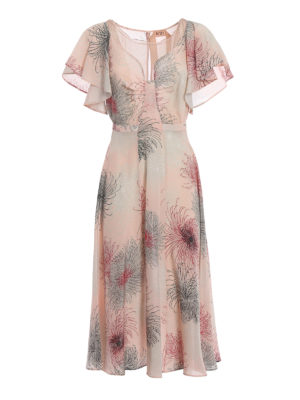 N°21: cocktail dresses - Printed silk flared dress