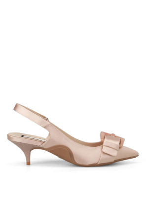 N°21: court shoes - Marbled effect buckle slingbacks