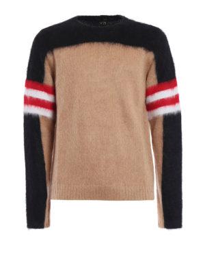 N°21: crew necks - Colour block angora blend sweater