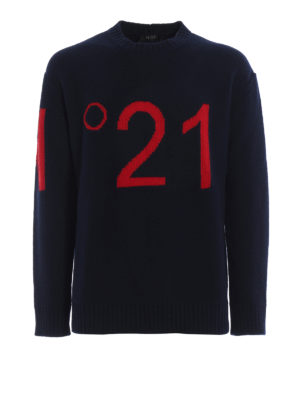N°21: crew necks - N°21 intarsia wool sweater