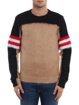 N°21: crew necks online - Colour block angora blend sweater