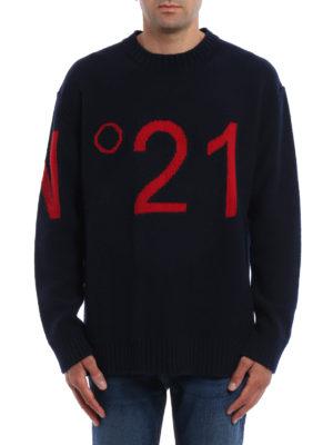 N°21: crew necks online - N°21 intarsia wool sweater