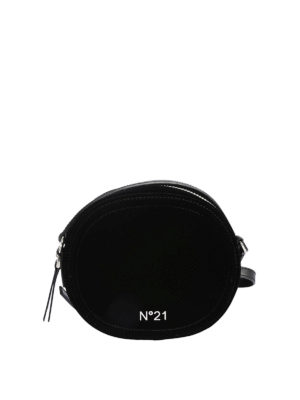 N°21: cross body bags - Black velvet disco cross body bag