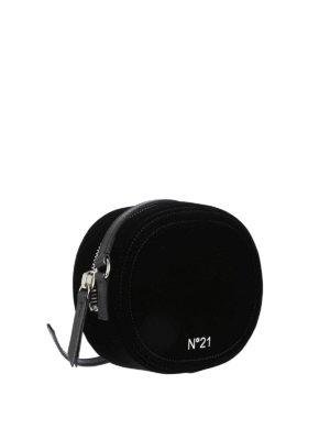 N°21: cross body bags online - Black velvet disco cross body bag