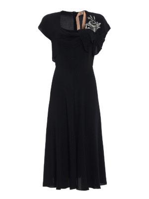 N°21: evening dresses - Jewel flower silk blend dress
