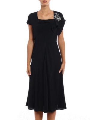 N°21: evening dresses online - Jewel flower silk blend dress