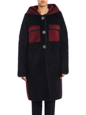 N°21: Fur & Shearling Coats online - Jewel buttons eco fur coat