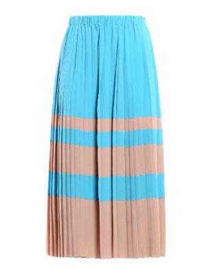 N°21: Knee length skirts & Midi - Bicolour silk blend pleated skirt