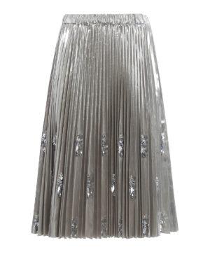N°21: Knee length skirts & Midi - Embellished pleated skirt