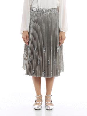 N°21: Knee length skirts & Midi online - Embellished pleated skirt