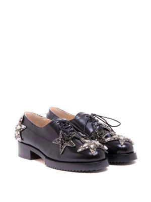 N°21: lace-ups shoes online - Star patches leather lace-ups
