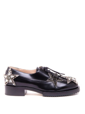 N°21: lace-ups shoes - Star patches leather lace-ups