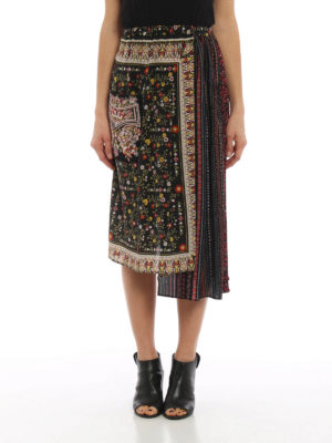 N°21: Long skirts online - Two-pieces maxi silk skirt