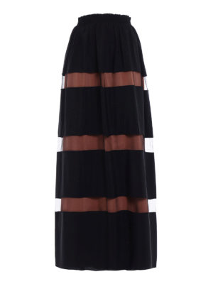 N°21: Long skirts - Silk blend and tulle striped skirt