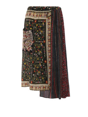 N°21: Long skirts - Two-pieces maxi silk skirt