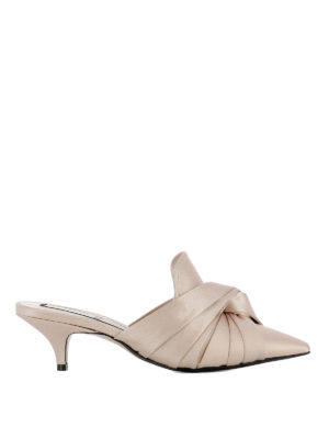 N°21: mules shoes - Knot detailed satin mules