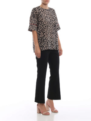 N°21: bluse online - Blusa over in seta stampa animalier