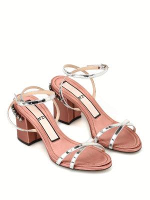 N°21: sandali online - Sandali in pelle e raso con strass