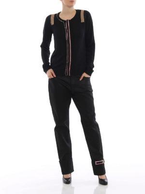a sigaretta - Jeans con maxi risvolti decorati
