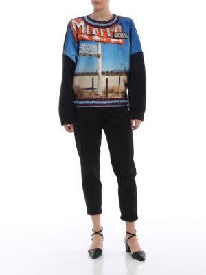 N°21: Felpe e maglie online - Felpa in cotone e satin stampa Motel