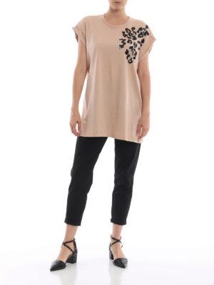 N°21: t-shirt online - T-shirt in cotone con decoro di paillettes