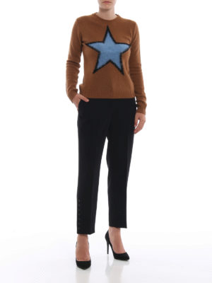 N°21: Pantaloni sartoriali online - Pantaloni in cady nero con dettaglio bottoni