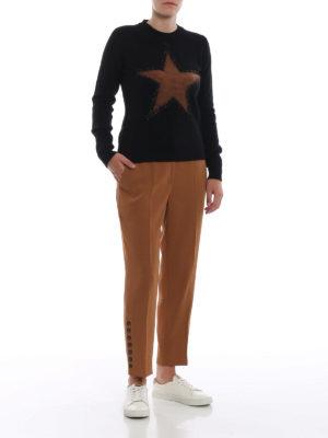 N°21: Pantaloni sartoriali online - Pantaloni cammello con bottoni alla caviglia