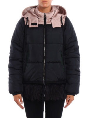 N°21: padded jackets online - Padded jacket with feather insert