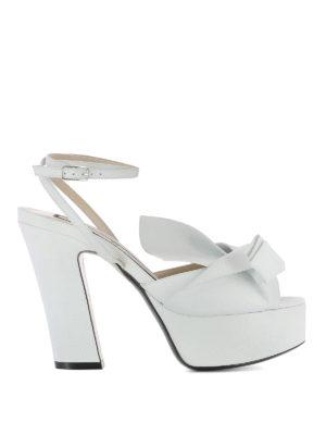 N°21: sandals - Maxi bow platform sandals