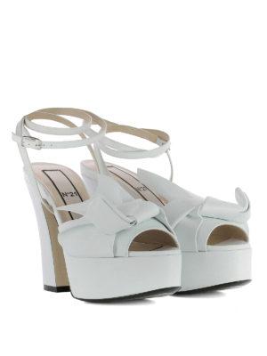 N°21: sandals online - Maxi bow platform sandals