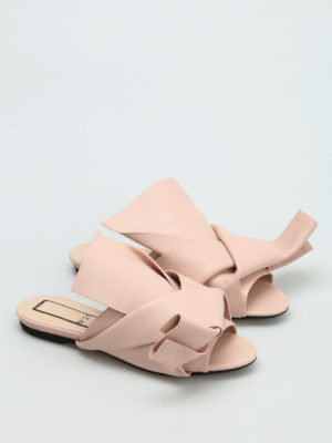 N°21: sandals online - Maxi knot detail nappa slippers