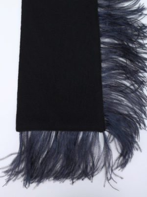 N°21: scarves online - Wool scarf with feathers