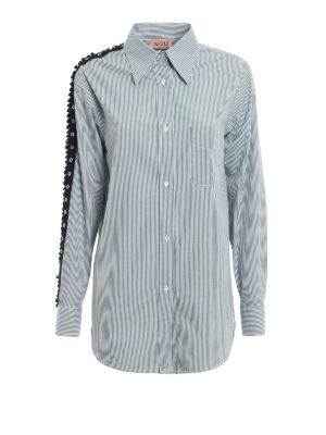 N°21: shirts - Embellished sleeve cotton shirt
