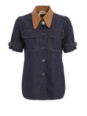 N°21: shirts - Jewel button chambray shirt
