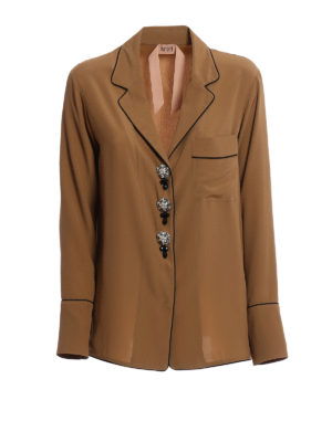 N°21: shirts - Jewel button pajama-style shirt