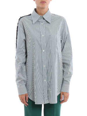 N°21: shirts online - Embellished sleeve cotton shirt