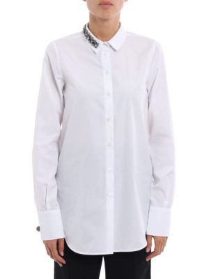N°21: shirts online - Jewel collar cotton shirt