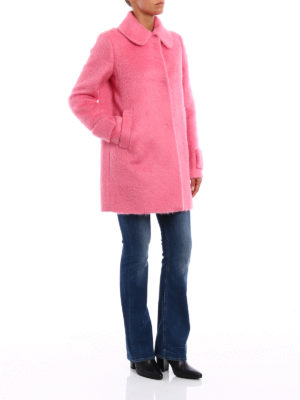 N°21: short coats online - Alpaca and wool blend A-line coat