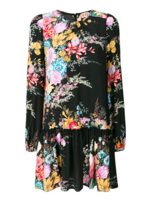 N°21: short dresses - Floral print silk mini dress