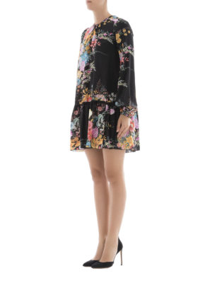 N°21: short dresses online - Floral print silk mini dress