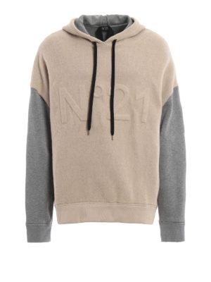 N°21: Sweatshirts & Sweaters - N°21 wool blend hoodie