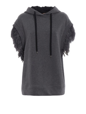 N°21: Sweatshirts & Sweaters - Over hoodie with feathers