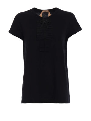 N°21: t-shirts - Beaded bow cotton T-shirt
