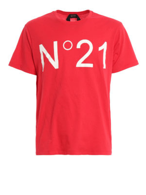 N°21: t-shirts - Logo print T-shirt