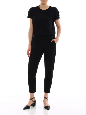 N°21: t-shirts online - Beaded bow cotton T-shirt