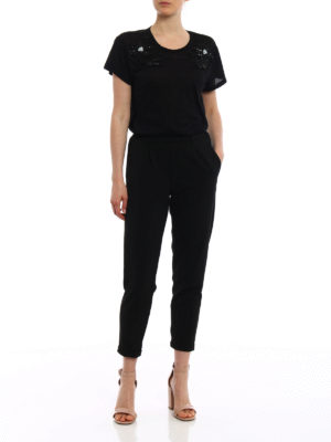 N°21: t-shirts online - Beaded front cotton T-shirt